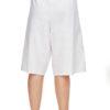 Velrose 2461 white knee length slip shorts underwear culottes