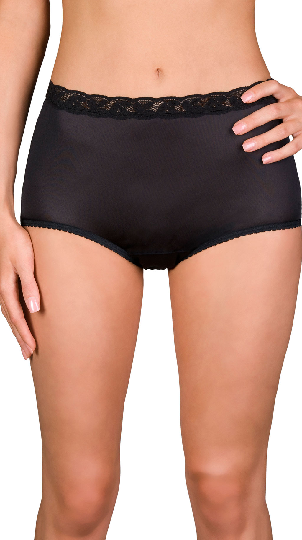 Shadowline® Lace Modern Brief Panty 3-Pack