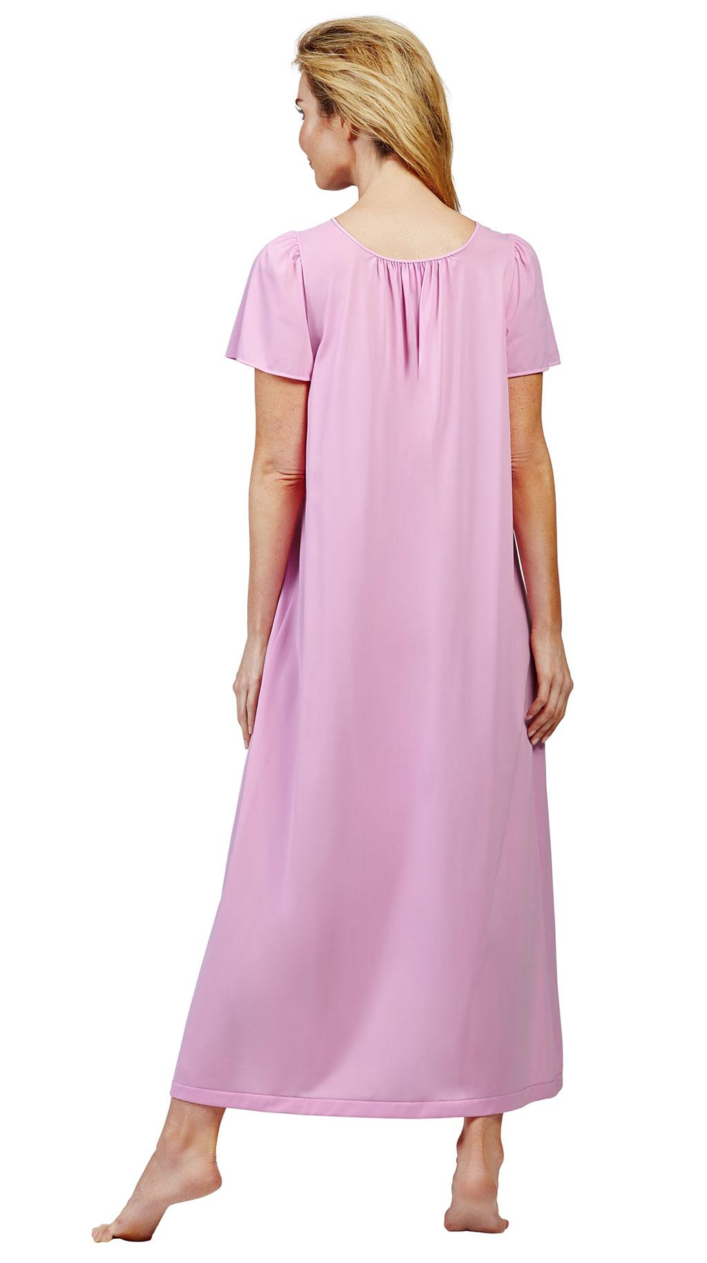 "Shortsleeve 53/"" Nightgown Style 32280 Shadowline Petals flutter"
