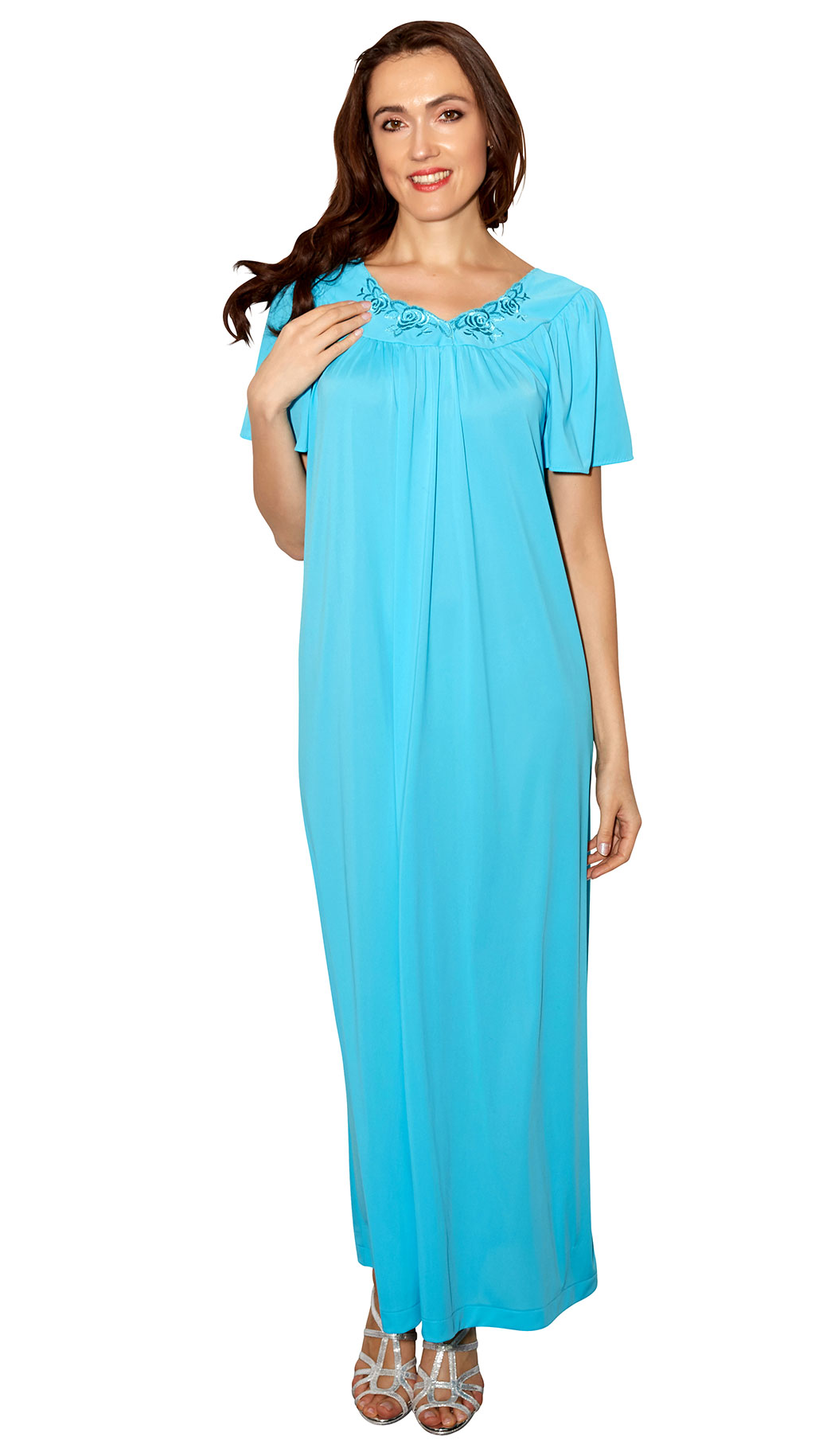 Save Shadowline® Long Flutter Sleeve Nightgown 57d89424f