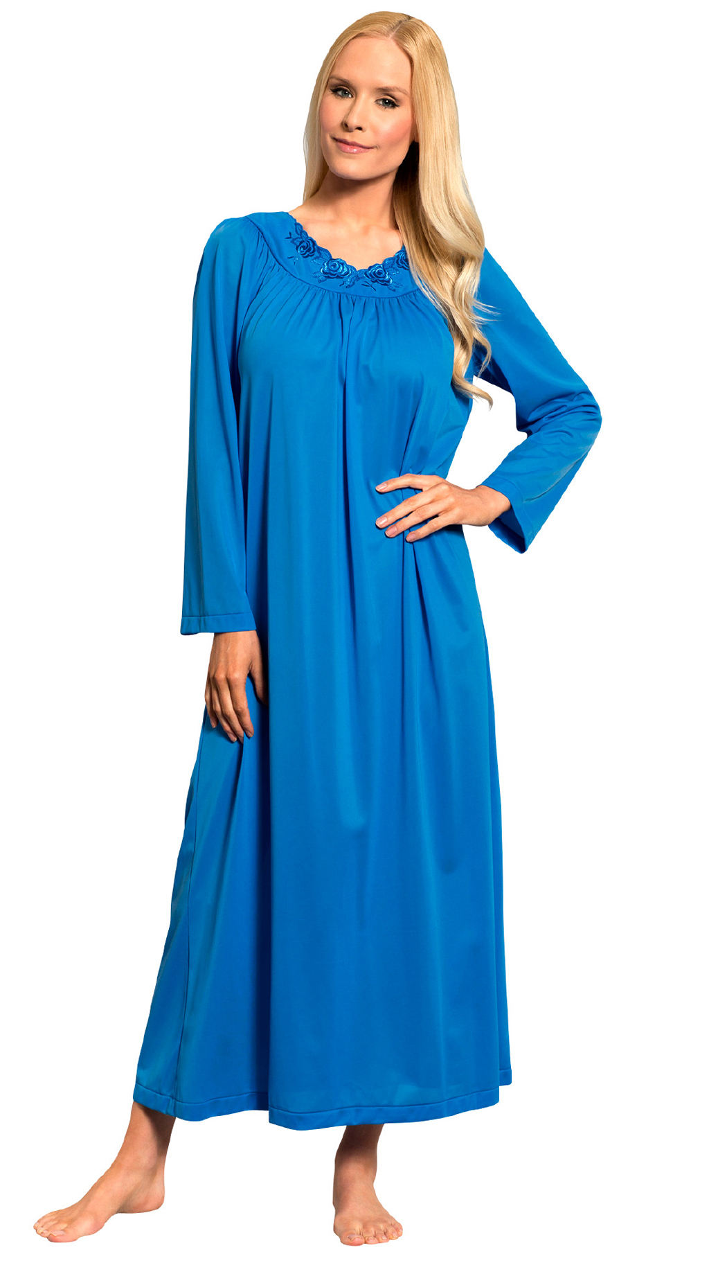 Women\'s Long Floor Length Nightgown | Shadowline Lingerie