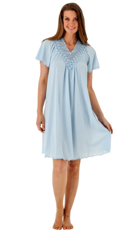 Shadowline® Short Lace Nightgown
