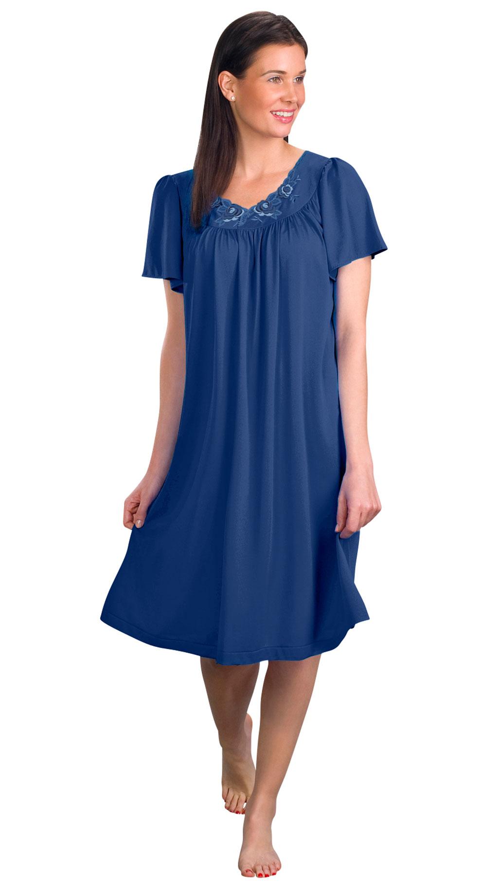 Shadowline® Short Flutter Sleeve Nightgown