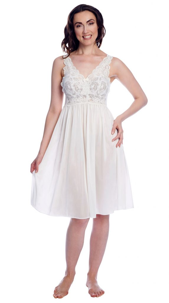 white babydoll nightgown with lace