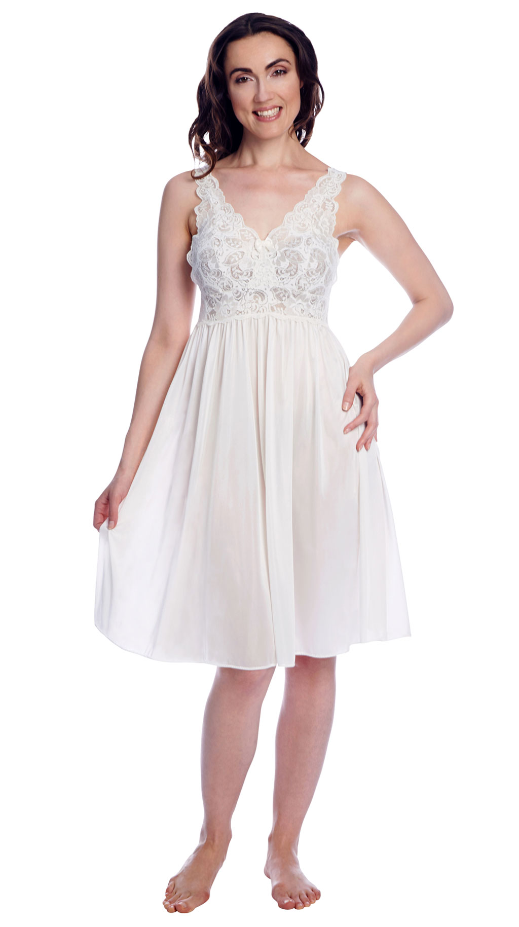 white babydoll nightgown
