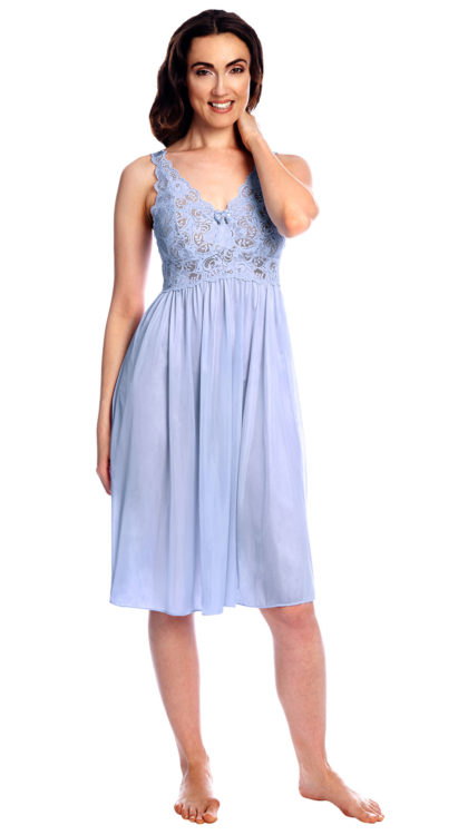 Shadowline® Short Lace Bodice Nightgown