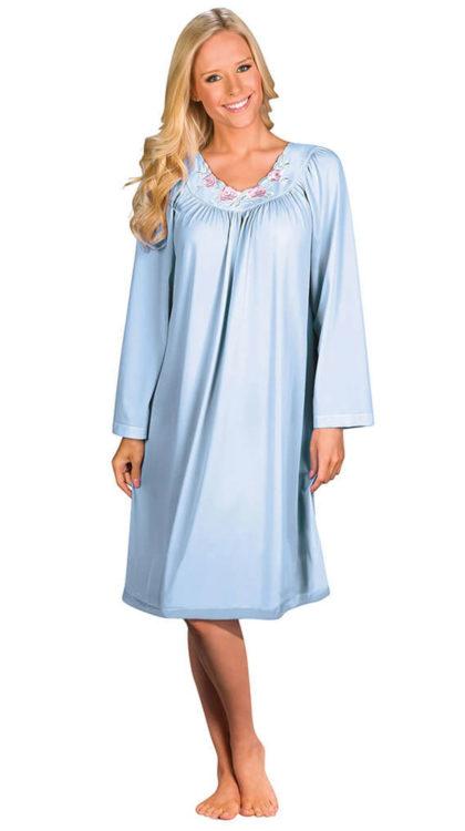 Shadowline® Short Long Sleeve Nightgown