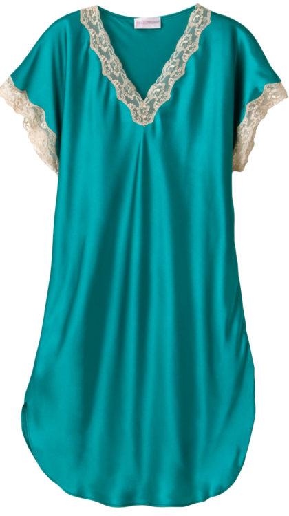 Shadowline® Vintage Lace Trim Sleepshirt