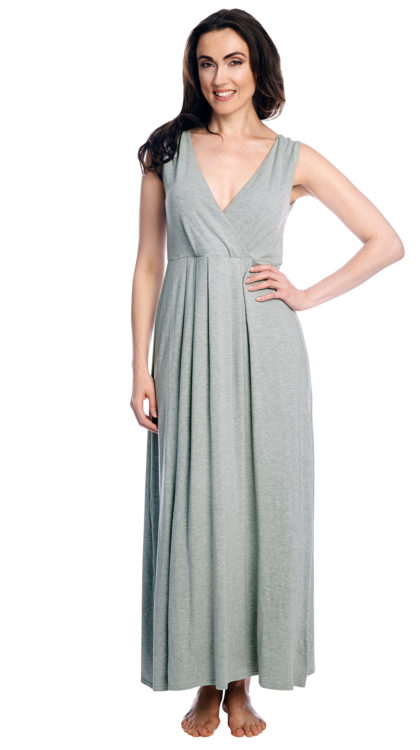 Shadowline® Long Sleeveless Maxi Dress