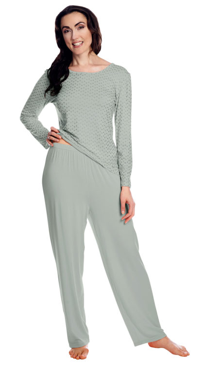 Sliver and Gray PJ Set