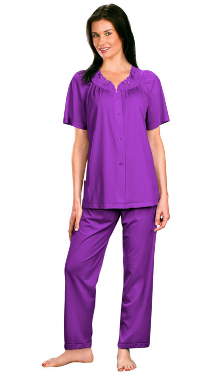 Shadowline® Short Sleeve Button Down Pajama Set