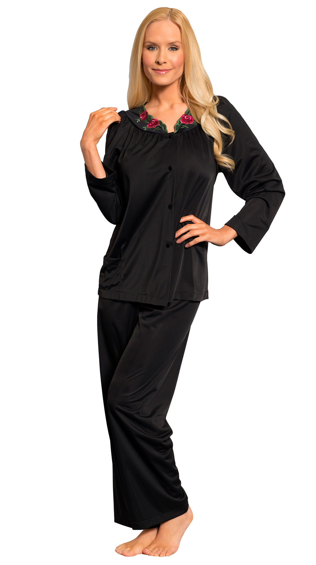 Save Shadowline® Long Sleeve Button Down Pajama Set 38906a38f