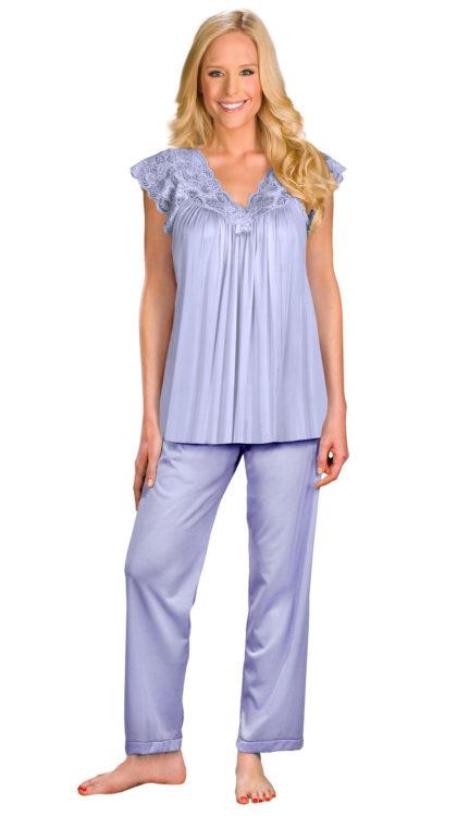 Shadowline® Lace Cap Sleeve Pajama Set