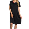 Shadowline 36280 black Petals embroidered nightgown