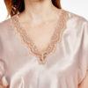 Shadowline 4503 Blush pink satin and lace nightdress