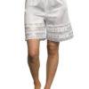 Velrose 3362 White lace hem culotte slip shorts pettipants
