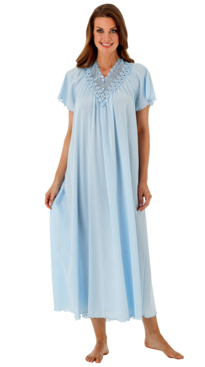 Shadowline® Long Lace Nightgown