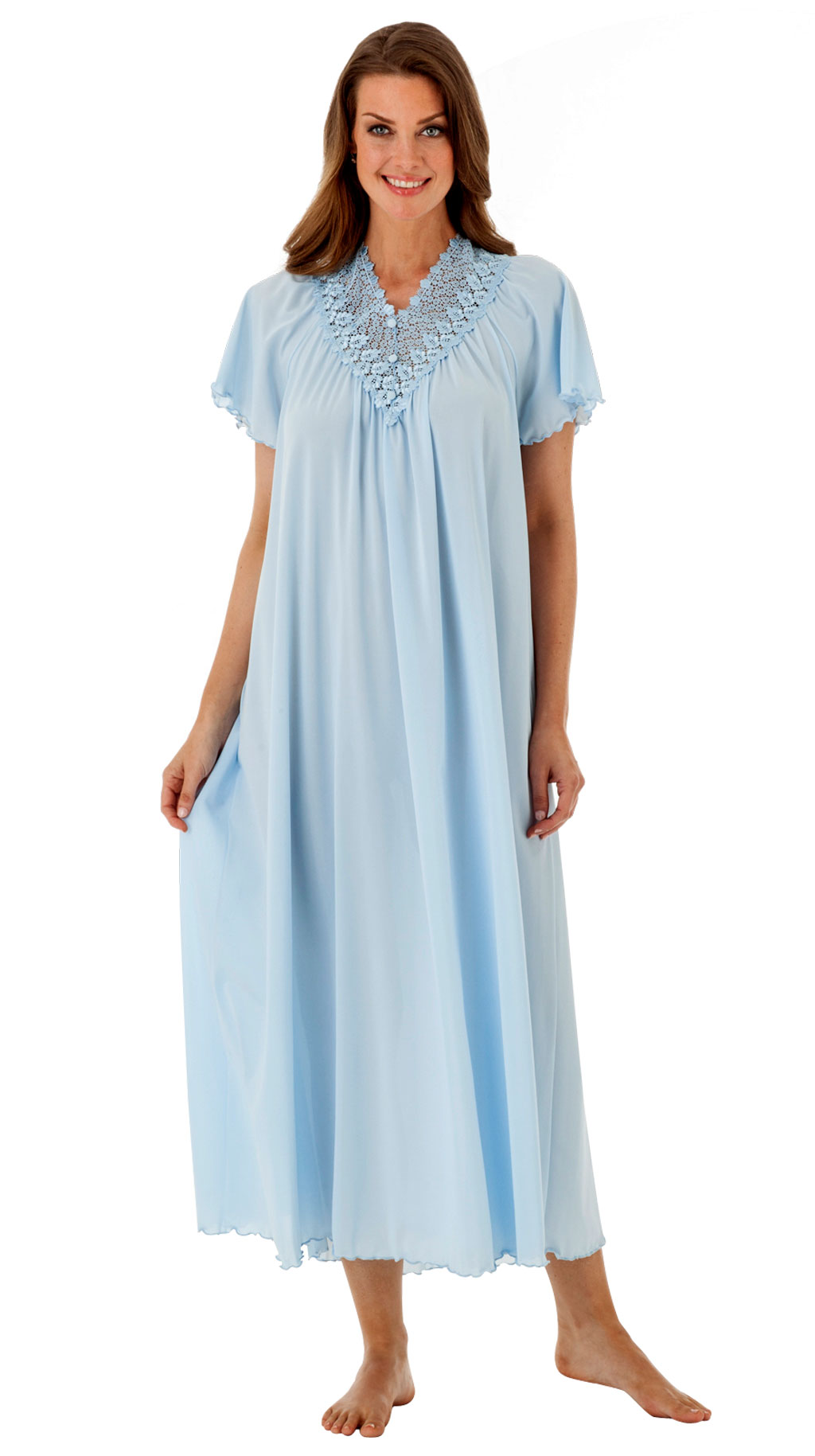 Women\'s Long Embroidered Lace Nightgown | Shadowline