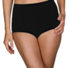 Shadowline Nylon Seamless Full Brief Panty 3-Pack in black white background