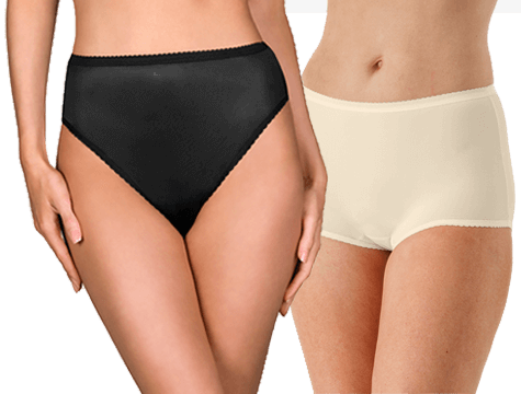 Shadowline® Comfort Band Full Brief Panty 3-Pack