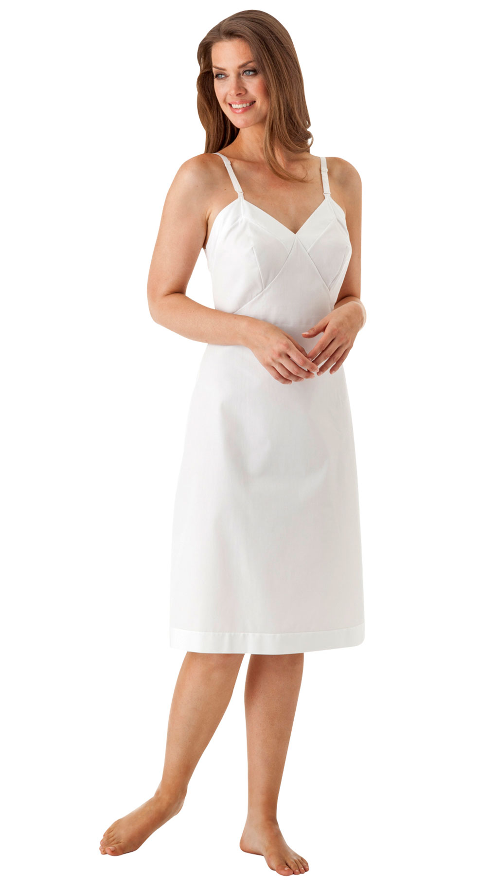 Velrose® Adjustable Strap Cotton Full Slip
