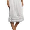 Velrose 2702 adjustable hem knee length slip skirt with lace hem