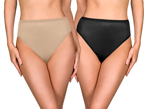 Shadowline® Nylon High Cut Panty 3-Pack