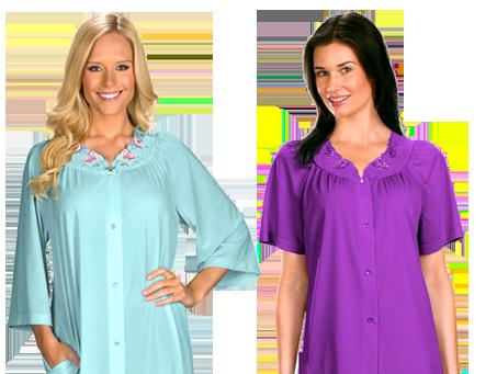 Shadowline® Long Sleeve Button Down Pajama Set