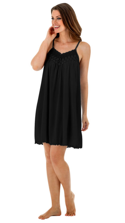 Short Black Nightgown