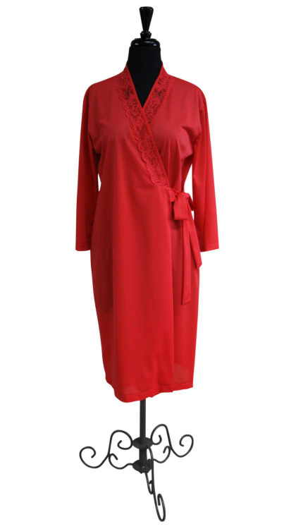 Red Lace Wrap Robe