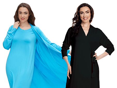 Shadowline® Solid Long Wrap Robe