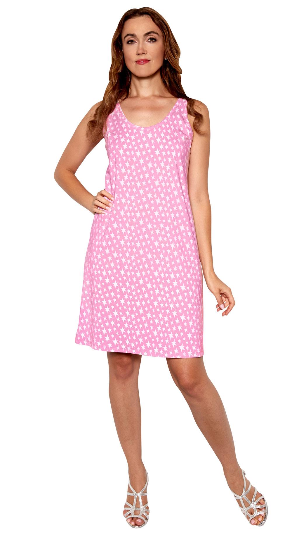 Pink Star Tank Sleepshirt