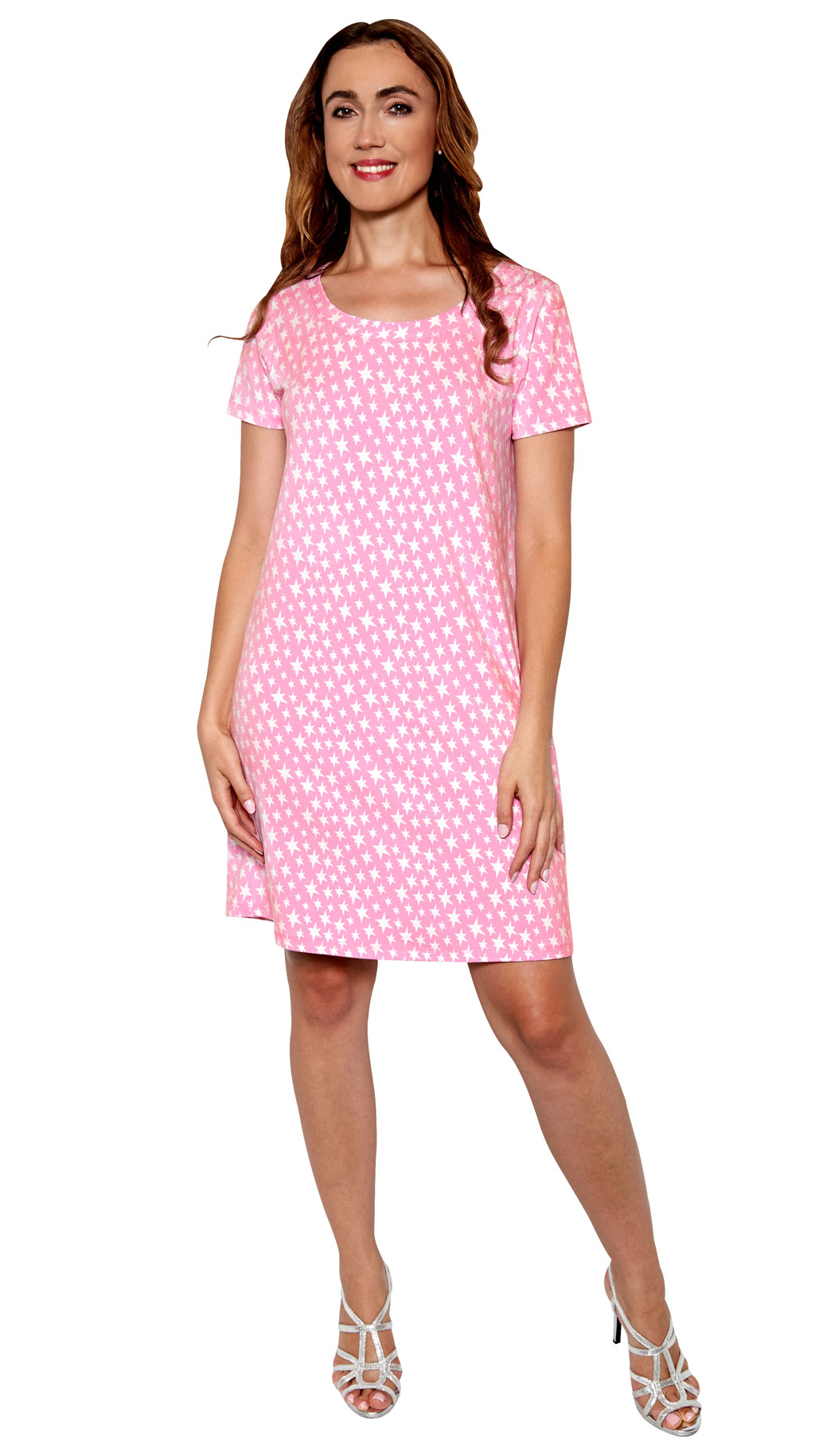 Pink Star Sleep Dress