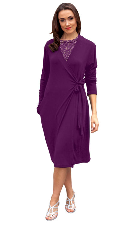 grape wrap robe with side pocket