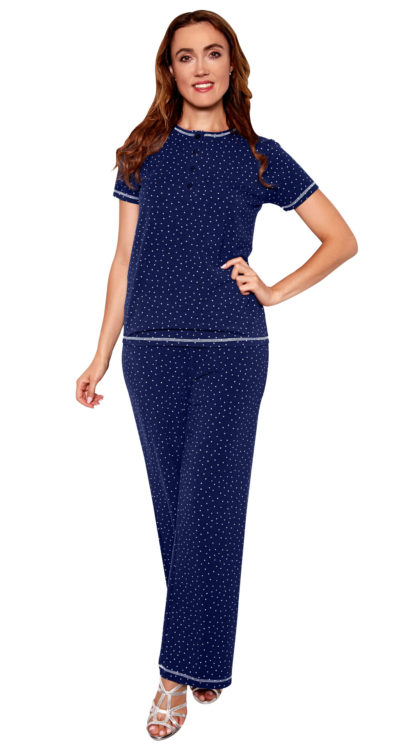 Navy Dot Pajama Set