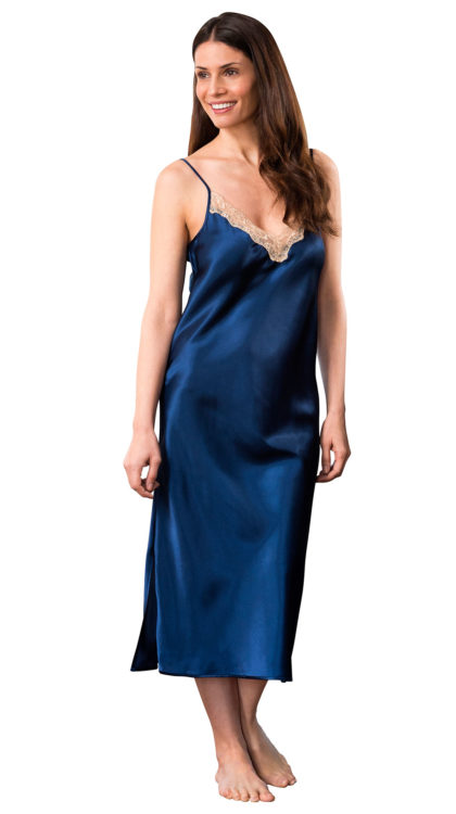 long silk sleep dress