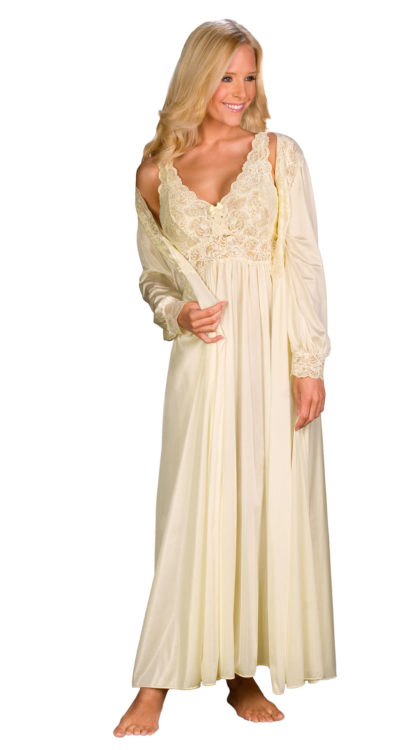 ladies long nightgowns in ivory