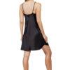 Shadowline 27291 black satin short chemise