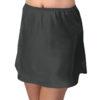 Shadowline 47091 short black satin slip skirt underskirt