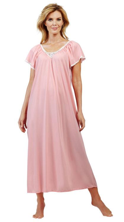 flutter sleeve night gowns