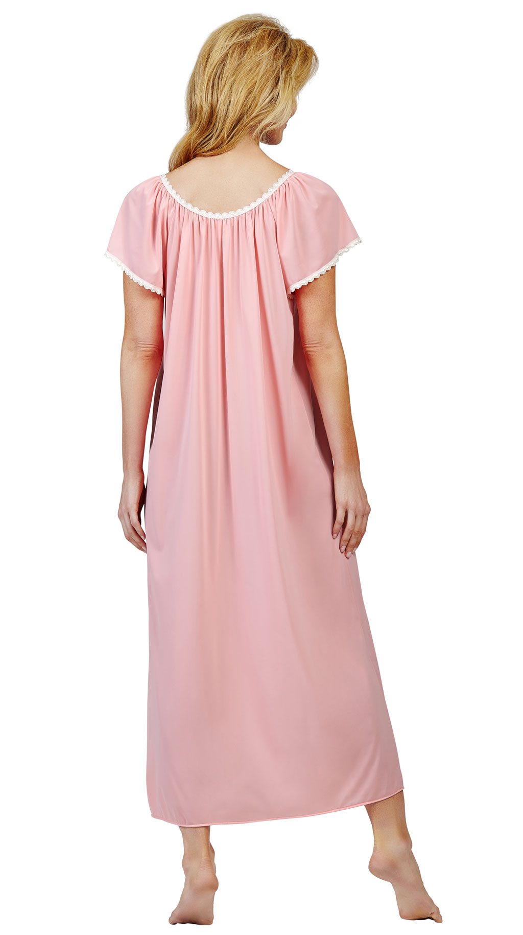 long nightgowns with flutter sleeves