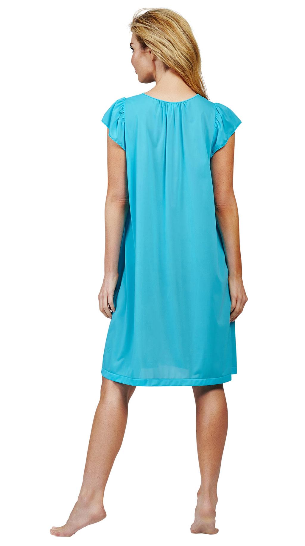 short cap women's night gowns