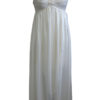 Shadowline 35737 ivory tulip hem nightgown with lace